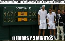 Enlace a Longest tennis match EVER