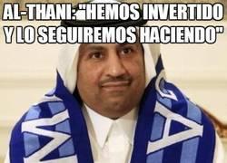 Enlace a Al-Thani, ¡moroso!
