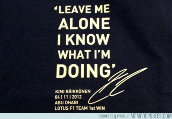 37084 - Raikkonen ha regalado a su equipo camisetas como ésta, ¡crack!
