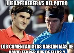 Enlace a Juega Federer vs Del Potro