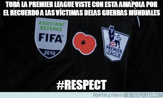 38484 - Toda la Premier League viste con esta amapola en recuerdo a las víctimas de las guerras mundiales