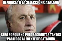 Enlace a Renuncia a la selección catalana