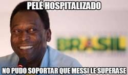 Enlace a Pelé hospitalizado