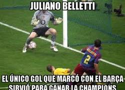 Enlace a Juliano Belletti, un gol, una champions