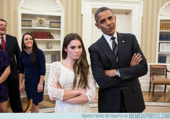 41486 - Obama imitando a McKayla Maroney