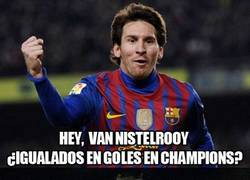 Enlace a Messi iguala a Van Nistelrooy