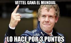 Enlace a Vettel gana el mundial