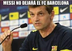 Enlace a Messi no dejará el FC Barcelona