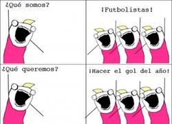 Enlace a Futbolistas, futbolistas Everywhere