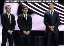 Enlace a Iniesta, messi y Cristiano nominados al balon de oro