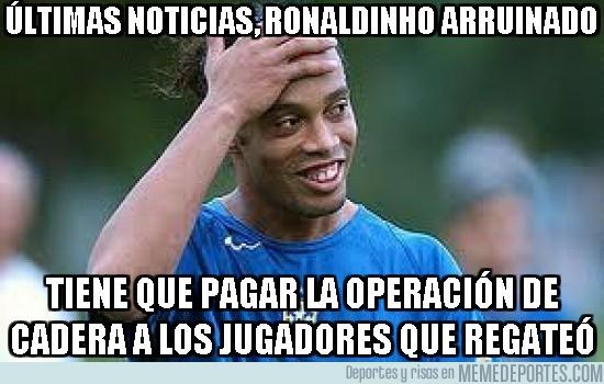 45743 - Últimas noticias, Ronaldinho arruinado
