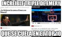 Enlace a Increíble triple de Emery
