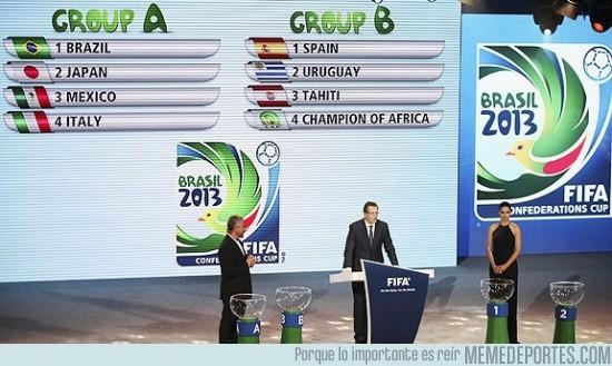 46437 - Así ha quedado el sorteo de la Copa Confederaciones 2013