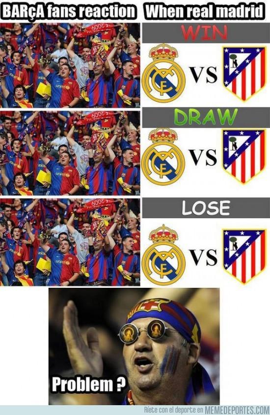 46860 - Reacción de los aficionados del Barcelona con los posibles resultados del Real Madrid