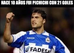 Enlace a Hace 10 años fue pichichi con 21 goles