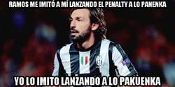 Enlace a Ramos me imitó a mí lanzando el penalty a lo panenka