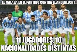 Enlace a El Málaga en el partido contra el Anderlecht