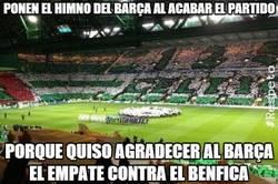 Enlace a Ponen el himno del Barça al acabar el partido
