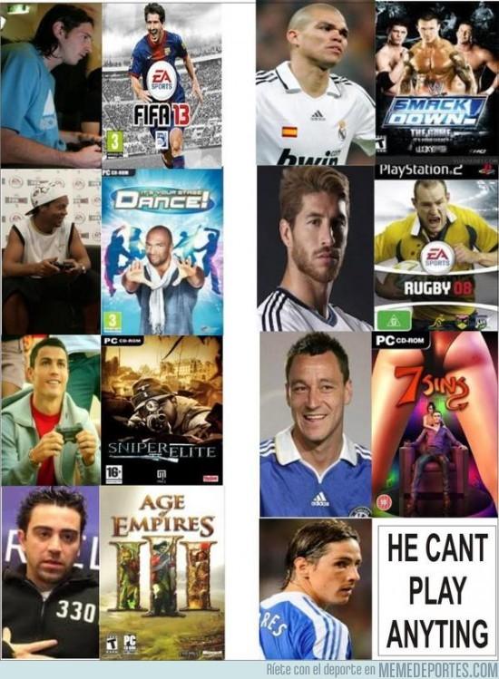 48851 - ¿A qué juegos de la play juegan los futbolistas?