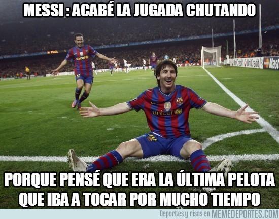 48852 - Messi: Acabé la jugada chutando