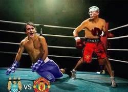 Enlace a K.O De Sir Alex Ferguson a Roberto Mancini