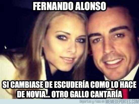 50960 - Fernando Alonso, cambiando de novia