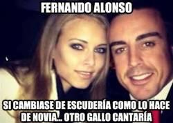 Enlace a Fernando Alonso, cambiando de novia