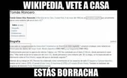 Enlace a Los de Wikipedia son unos cachondos