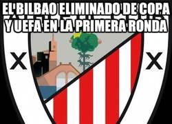 Enlace a El Bilbao eliminado de Copa y UEFA en la primera ronda