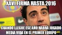 Enlace a Xavi firma hasta 2016