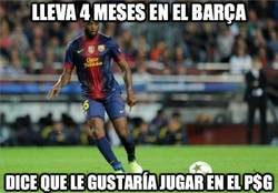Enlace a Lleva 4 meses en el Barça