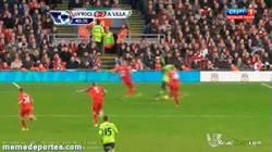Enlace a GIF: Gol del Aston Villa, taconazo a lo Guti