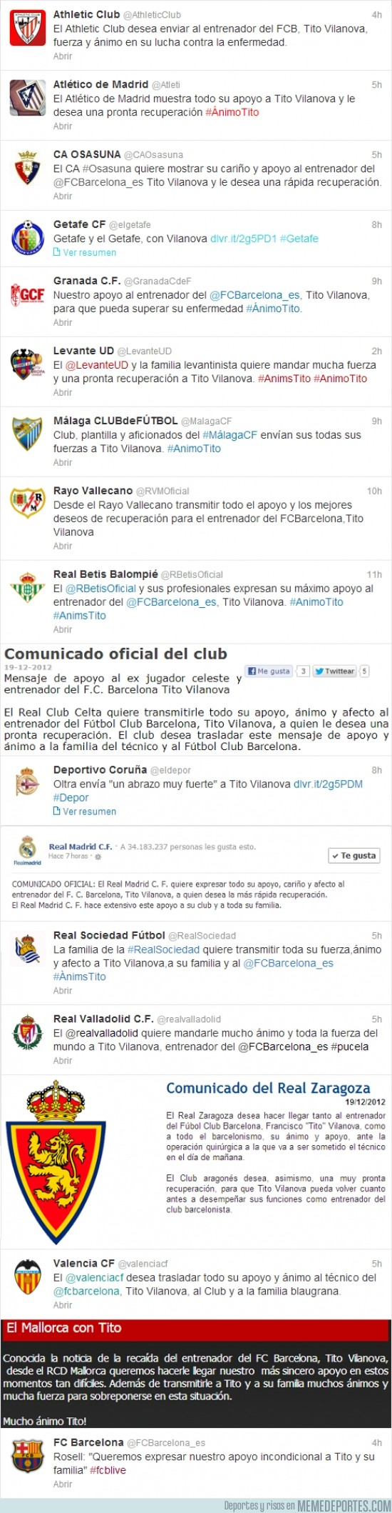 55444 - Los equipos de la Primera División volcados con Tito Vilanova