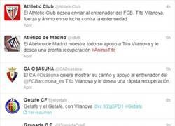 Enlace a Los equipos de la Primera División volcados con Tito Vilanova