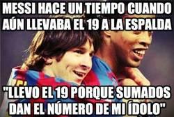 Enlace a Messi hace un tiempo cuando aún llevaba el 19 a la espalda