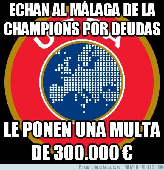 56121 - Echan al Málaga de la Champions por deudas