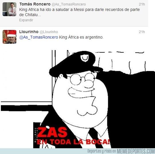 57460 - Zas en toda la boca de @Llourinho a @AS_TomasRoncero