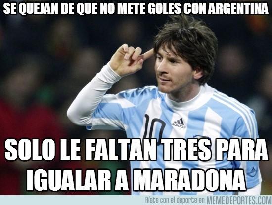 58225 - Se quejan de que no mete goles con Argentina