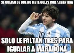 Enlace a Se quejan de que no mete goles con Argentina