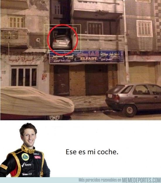 58371 - Grosjean aparcando...