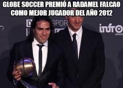 Enlace a Globe Soccer premió a Radamel Falcao como mejor jugador del año 2012