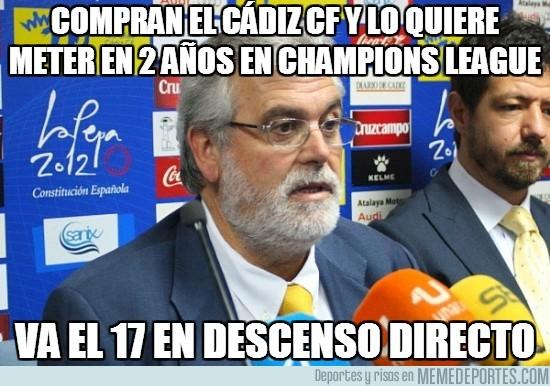 60219 - Compran el Cádiz cf y lo quiere meter en 2 años en champions league