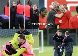 Enlace a Comparando el bueno rollo entre los dos equipos de Manchester