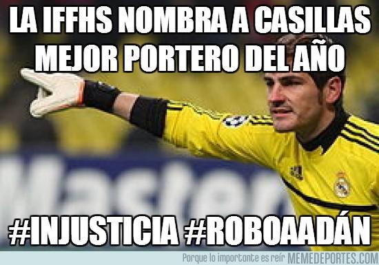 62179 - La IFFHS nombra a Casillas mejor portero del año