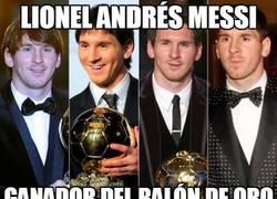 Enlace a Lionel Andrés Messi, ganador del balón de oro 2012