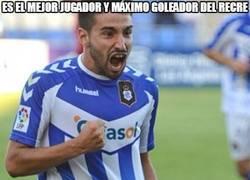 Enlace a Es el mejor jugador y máximo goleador del Recre