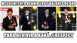 Enlace a Messi y los 7 balones de oro
