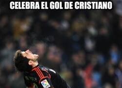 Enlace a Celebra el gol de Cristiano
