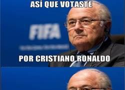 Enlace a Que le diste tu voto a Cristiano Ronaldo