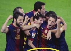 Enlace a Esa manita, Messi